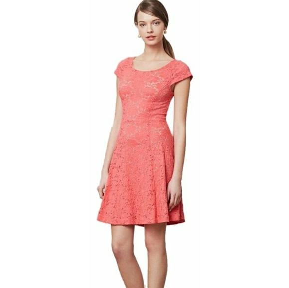 783d276da211 Anthropologie Dresses | Maeve Coral Lace Dress | Poshmark